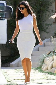 She doesn't need to cut back on anything!: Although she looks fantastic, Kim has vowed to ditch sugar... - Kim Kardashian Style