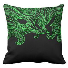 Lime Green Boho Style Decorative Pillow