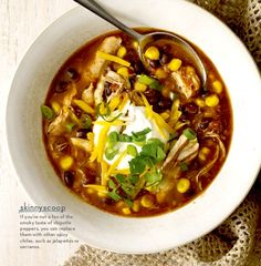 Recipe: Slow Cooker Chicken Enchilada Soup with Toppings (using chicken breasts and corn) - Recipelink.com