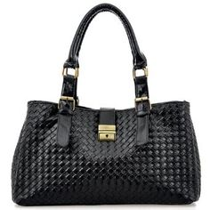 REVI Black Embossed Woven Office Tote Shopper Hobo Shoulder Bag Satchel Handbag on amazon today for just $29.50 & ships free . Find it here by clicking on the picture. see more great bags at http://www.ddsgiftshop.com/shoes-and-handbags