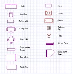 Floor plan symbols for doors windows and electrical for Architectural floor plan symbols