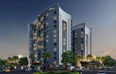 Residential Exterior Design Night View Rendering