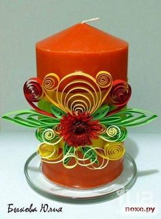 Dollar Store candles and paper flowers/bunnies for Easter decor 3d Quilling, Paper Quilling Tutorial, Quilling Animals, Quilling Paper Craft, Quilling Flowers, Quilling Designs, Quilling Christmas, Christmas Paper Crafts, Rolled Paper Art
