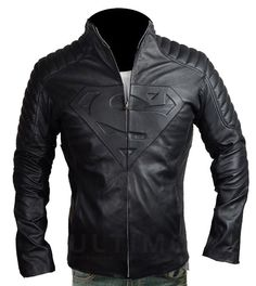 #Superman #Smallville #Black #CowHide #Leather #Jacket #celebrities #menswear…