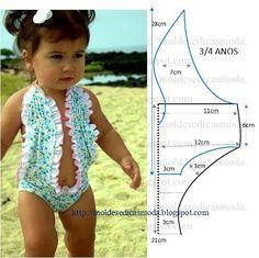 Plantillas de moda medir: ROPA INFANTIL BAÑO