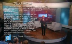"Lorna on experiencing the reality of ""God with us""--- Immanuel"