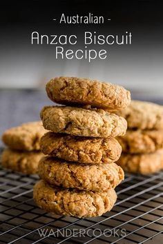 Whip these easy Anzac Biscuits in no time! This popular egg-free Australian biscuit is crunchy, sweet and only has 6 ingredients! Healthy Mummy Recipes, Healthy Treats, Healthy Desserts, Baking Recipes, Cookie Recipes, Dessert Recipes, Easy Recipes, Breakfast Recipes, Aussie Food