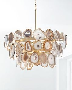 John-Richard Collection Agate Sliced Chandelier from Horchow (Neiman Marcus) Chandeliers, Chandelier Lighting, Agate Decor, Agate Geode, Luminaire Design, Home And Deco, My New Room, Resin Art, Light Design