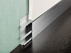 Plinte dans le plan des murs/ cloisons - Aluminium Skirting board PROSKIRTING CHANNEL by PROGRESS PROFILES