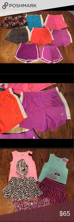 24 Piece Girls Summer Bundle Girls summer clothes bundle. 24 pieces. Size 7, 7/8 and 8. Justice, The Children's Place, and some faded Glory. All in great used condition, one pair of purple shorts has a few small spots on them as pictured. Great for starting back to school!! Justice Shirts & Tops Tees - Short Sleeve