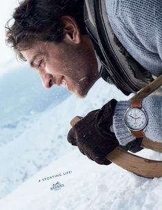 A sporting life! Hermès presents its autumn-winter 2013 advertising campaign. #hermes #fashion #menswear