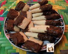 Biscoitos com chocolate