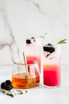 Sweet, tart and woodsy, this Honey, Blackberry and Sage Refresher Mocktail is a deliciously crisp and cool Summer drink! Each sip of this non-alcoholic pick-me-up is packed with a whole-lot of flavor and body-loving nutrients! #mocktail #refresher #sage #blackberry #nonalcoholic Drink Recipes Nonalcoholic, Best Cocktail Recipes, Drinks Alcohol Recipes, Non Alcoholic Drinks, Fun Cocktails, Fun Drinks, Party Drinks, Cold Drinks, Refreshing Drinks