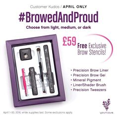 April kudos is announced!! Check out this cute little bundle of joy  #browbundle #younique #allaboutthebrows #frameyourface #aprilkudos