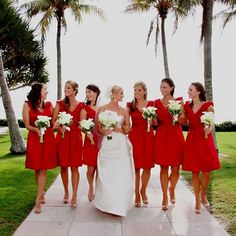 beach wedding red - Google Search