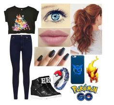 """""""Pokèmon GO Fever"""" by broken-and-alone on Polyvore featuring MICHAEL Michael Kors, 7 For All Mankind and Valor"""