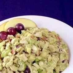 Waldorf-Inspired Avocado Chicken Salad. (Mayonnaise free!)