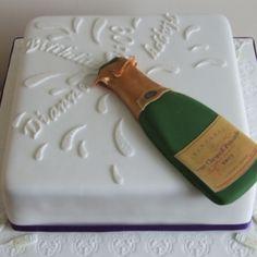 Birthday Cake Decoration Ideas - Best Decoration Ideas For Birthday Cake Birthday Cake Wine, Champagne Birthday, Champagne Cake, Champagne Bottles, Birthday Cake Girls, Birthday Cakes, 21st Birthday, Cupcakes, Cupcake Cakes
