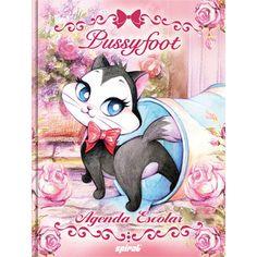 Agenda escolar Pussyfoot 94951 Spiral Pf - Escolar - Kalunga.com