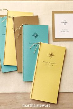 The tiniest things can make the biggest impression. Case in point: our compass-, tree-, and flourish-adorned program covers. Just add your names and wedding date to our template (we used a sans serif font), print on letter-size paper or stock, fold, and bind with string. #weddingideas #wedding #marthstewartwedding #weddingplanning #weddingchecklist Wedding Ceremony Programs, Ceremony Seating, Art Template, Templates, Program Template, Glassine Envelopes, Wedding Paper, Wedding Clip, Free Wedding