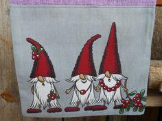 Swedish Christmas Gift Bag Scandinavian Santa Sack Gift Sack Gnome Elf Tome Nisse Linen Burlap