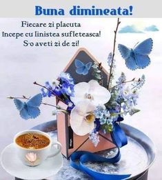 Good Morning, Table Decorations, Day, Home Decor, Folklore, Quotes, Buen Dia, Decoration Home, Bonjour