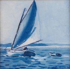 """Catboat Sailing Nantucket Sound"" by Ann Sullivan"