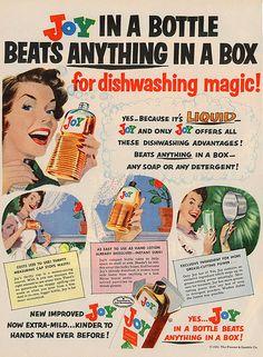 Vintage 'Joy Dishwashing Liquid In A Box' Ad