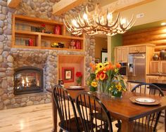 Spaces Log Cabin Kitchen Design, Pictures, Remodel, Decor and Ideas - page 21
