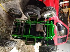 Converting 24v Grave Digger Power Wheels Into an Electric Go-kart With Rubber Tires : 11 Steps (with Pictures) - Instructables Brake Rotors, Brake Calipers, Grave Digger Power Wheels, Electric Go Kart, Steel Bar, Rubber Tires, Pictures, Photos, Grimm