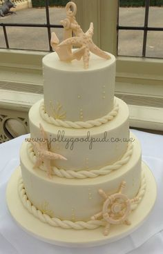 Nautical wedding cake from The Jolly Good Pud Company www.jollygoodpud.co.uk