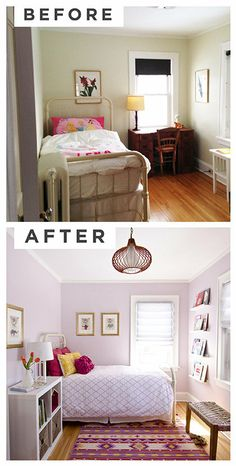 I love the pink bedroom - will do this next time I paint my guest room.  Would also be perfect for a little girl's room.