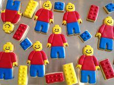Lego men guys & blocks sugar cookies