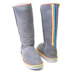 Omnipeace by Australia Love Collective Rainbow Boots... I want some like this so very, very much!