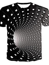 Men's Daily Street chic / Punk & Gothic Plus Size T-shirt - Geometric / Print Round Neck Black XXXXL / Short Sleeve T Shirt 3d, 3d T Shirts, Printed Shirts, Shirt Print, Tank Top Herren, Herren T Shirt, Chic Punk, Leather Ankle Boots, Leather And Lace