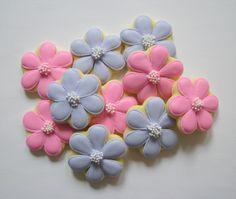 spring little flowers cookies