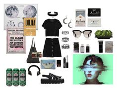 """~THE LUNATIC WALK~"" by carlayui on Polyvore featuring Monki, Rachel Entwistle, Topshop, MM6 Maison Margiela, ASOS, Laneus, CASSETTE, Christian Dior, Butter London and Leica"