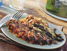 Spicy Grilled Chicken and Green Onions