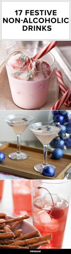 17 Festive Nonalcoholic Drinks There's nothing better to put you in the holidays spirit than delicious peppermint eggnog, caramel apple cider, Nutella hot chocolate. These 17 festive non-alcoholic drinks for the whole family! Noel Christmas, Christmas Desserts, Christmas Treats, Christmas Baking, Holiday Treats, Holiday Recipes, Xmas, Winter Recipes, Christmas Recipes