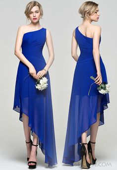 Asymmetrical Bridesmaid dress. #JJsHouseBridesmaidDress