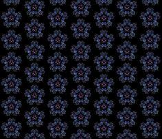 Pretty little penta-flower fabric