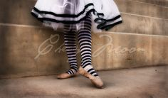 """I actually use this image for my business cards. Colors are rich, and I love how the black and white pops and screams """"detail""""...  #photography #ballet #stripes #ballerina #black #white  #tutu"""