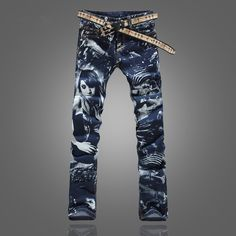 i love this denim Cheap jean fashion, Buy Quality jeans outerwear directly from China jeans snaps Suppliers: Michley Brand New Arrival Men'S Printing Skinny Jeans Men Slim Fit Printed Pattern Pants Trous Hipster Fashion, Denim Fashion, Streetwear Jeans, Gucci Jeans, Printed Skinny Jeans, Denim Jeans Men, Pants Pattern, Urban Outfits, Girls Jeans