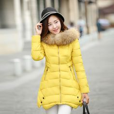 39.18$  Watch now - http://alicdg.shopchina.info/go.php?t=32719992504 - Fur Collar Female 2016 New Women's Winter Jacket Down Cotton Jacket Slim Parkas Ladies Coat Plus Size Abrigos Mujer 39.18$ #buyininternet