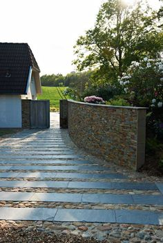 Granite and cobbled approach