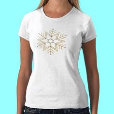 Silver and Gold Snowflake T-shirt. Prices start at around $24.00! Many more customizable products with this design to choose from!