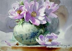 Shin Jong Sik is an artist and is the first time user of Mission watercolor in Korea. He had used 3 different brands of imported watercolor paints until when he wholly turned to Mission after monitoring Mission watercolor. Watercolor And Ink, Watercolour Painting, Watercolor Flowers, Painting & Drawing, Watercolors, Arte Floral, Still Life Art, Beautiful Paintings, Painting Inspiration