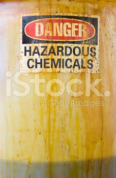 Danger Hazardous Chemicals Sign on a Translucent Barrel with Liq royalty-free stock photoStock photo ID:11623330