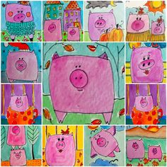 Pigs!!  So cute a good last minute Kindergarten idea.