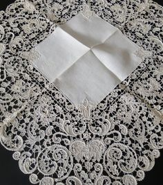 Vintage Clothes Antique Lace, Linens-Vintage Clothing-Textiles-Fans-Stella Niforos-New York: Archive Lace Embroidery, Vintage Embroidery, Embroidery Designs, Lace Ribbon, Lace Fabric, Rose Shabby Chic, Bordados E Cia, Crochet Amigurumi, Antique Lace